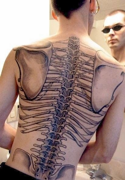 Skeleton Tattoo - that must have hurt having this tattoo done