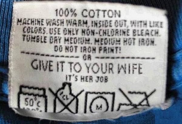 funny washing instructions