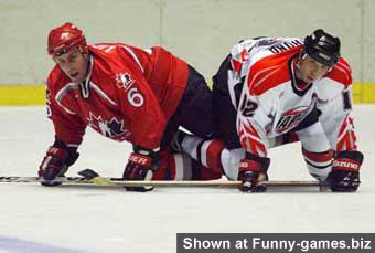 Sport 18 - Funny sports photos two hockey players got stuck Funny Games Biz