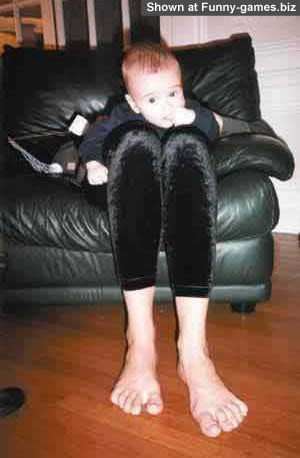 Big Foot - Did not know my feet were so big funny baby picture Funny Games Biz