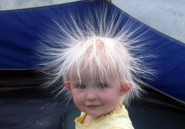 bad hair day guy looks like after touch electricity