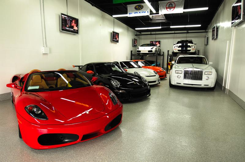 Funny Car Garage : Millionaires garage so many wonderful cars in one place