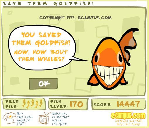 Save the goldfish kickass game save the gold fish from for Gold fish game