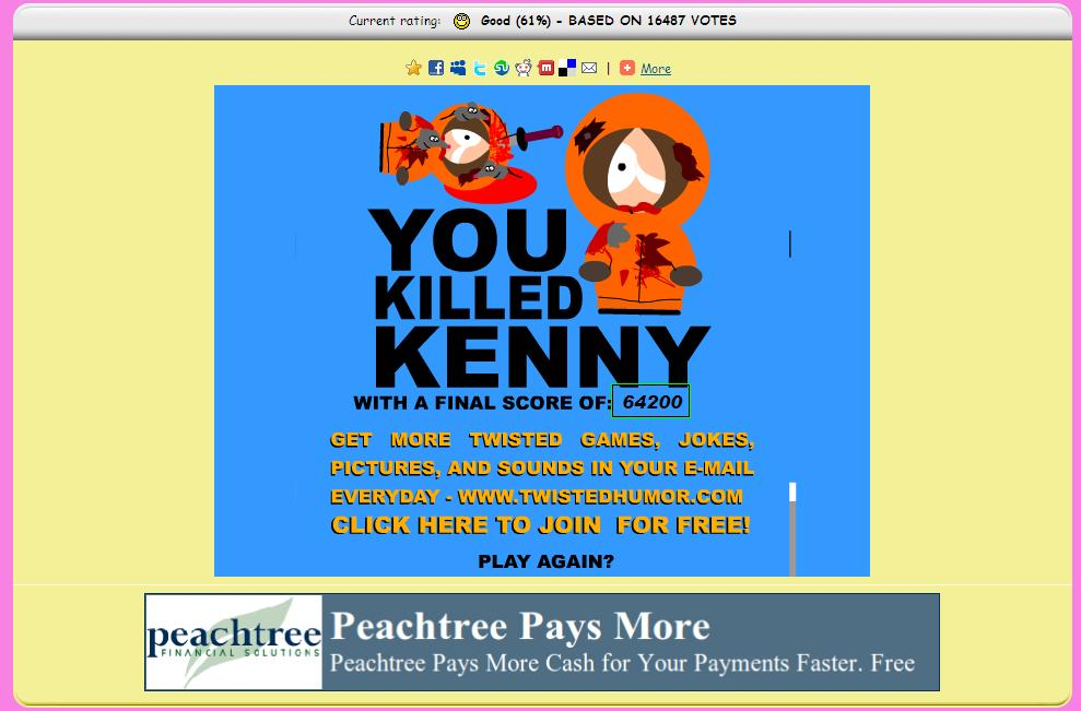 south park kill kenny game free online
