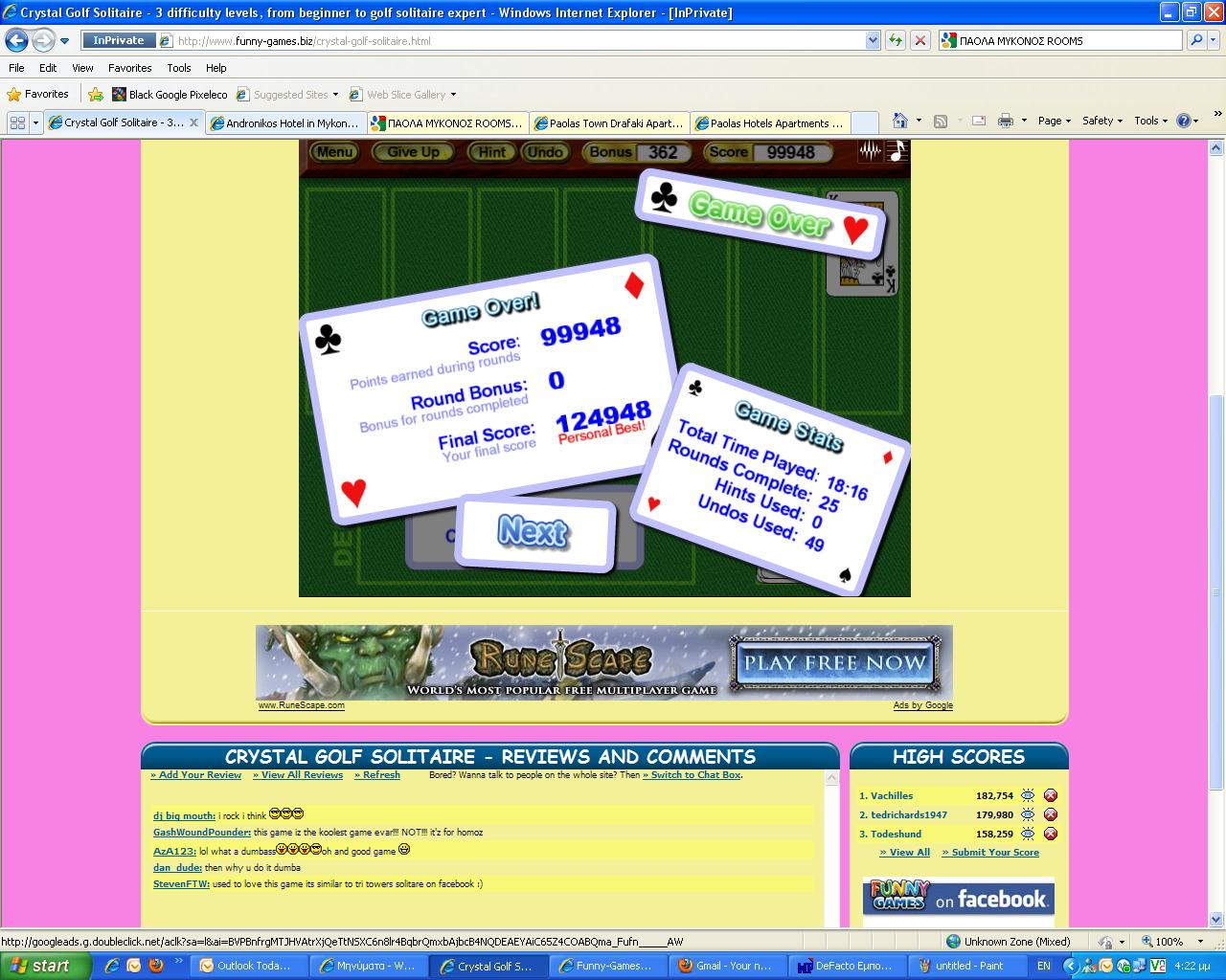 how to get a high score in solitaire
