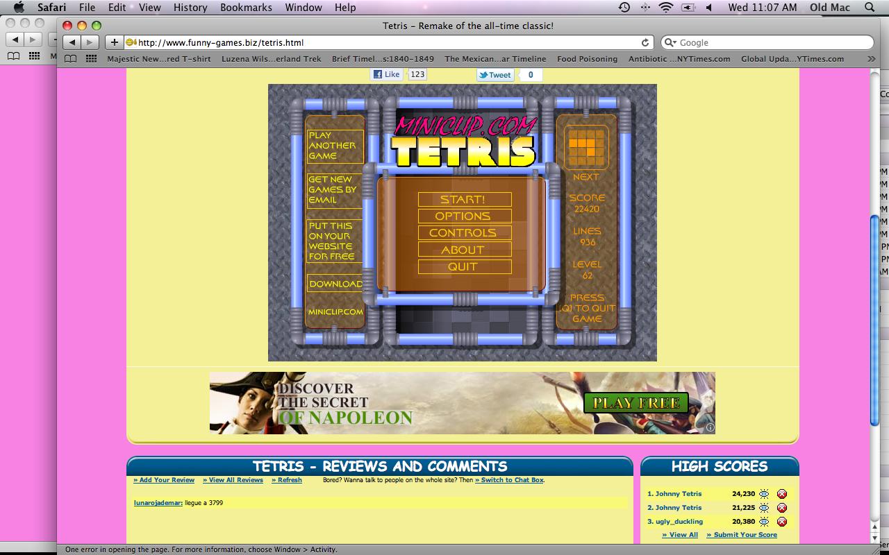 free online games miniclip - tetris