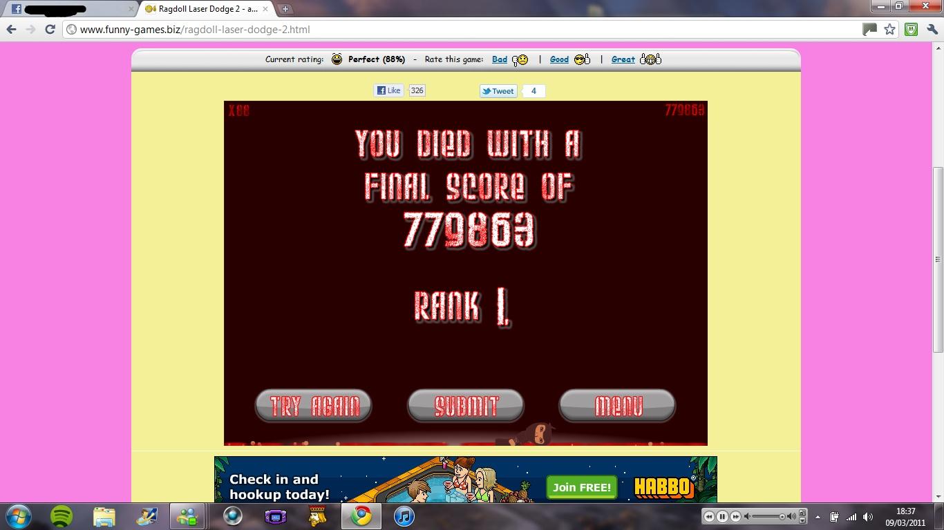 Ragdoll Laser Dodge 2 - Play on Bubblebox.com - game info ...