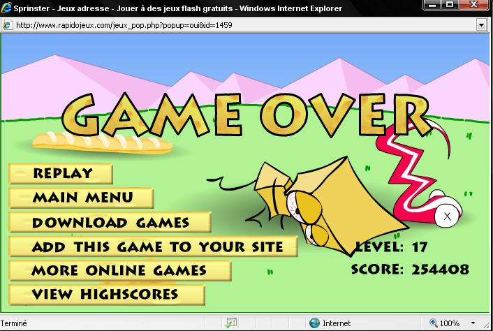 Sprinster - play over 3000 funny online game for free Funny Games Online