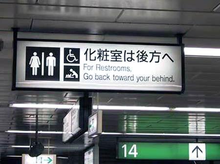 Restroom Signage picture