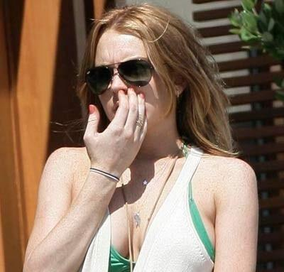 Lindsay Picking Nose picture