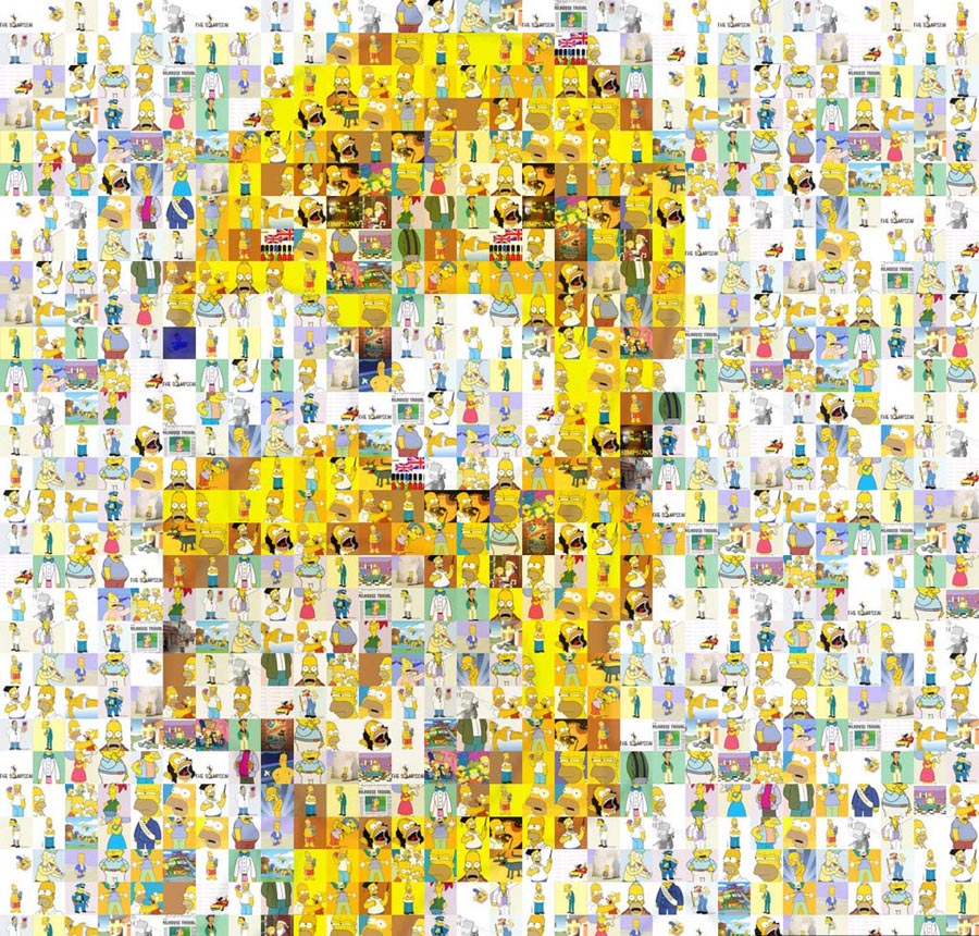 Homer Mosaic picture