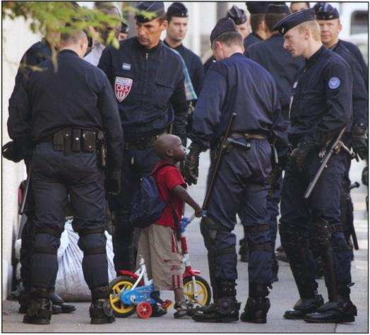Boy and Police picture