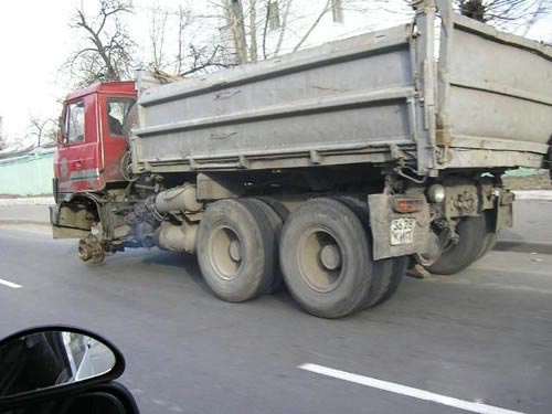 Truck Without Wheel picture