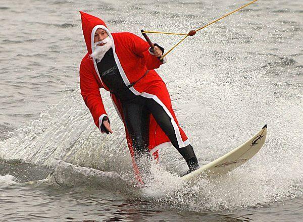Sporty Santa picture