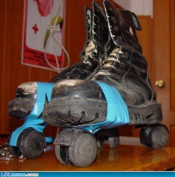 Homemade Roller-Skates picture