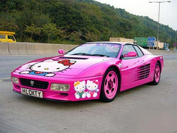 Hello Kitty Ferrari picture