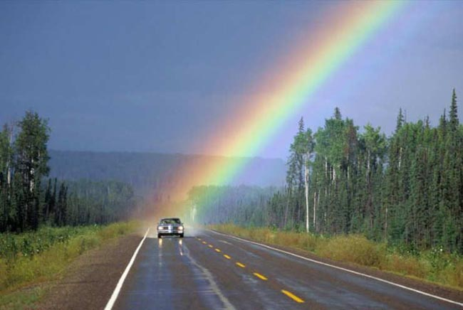 Car With Rainbow picture