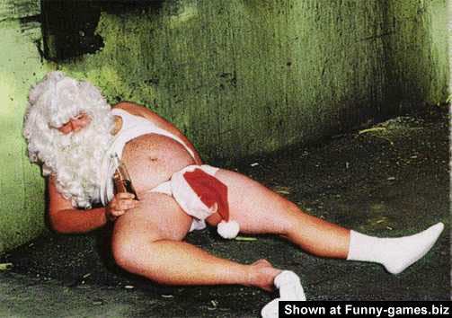 Drunk Santa picture