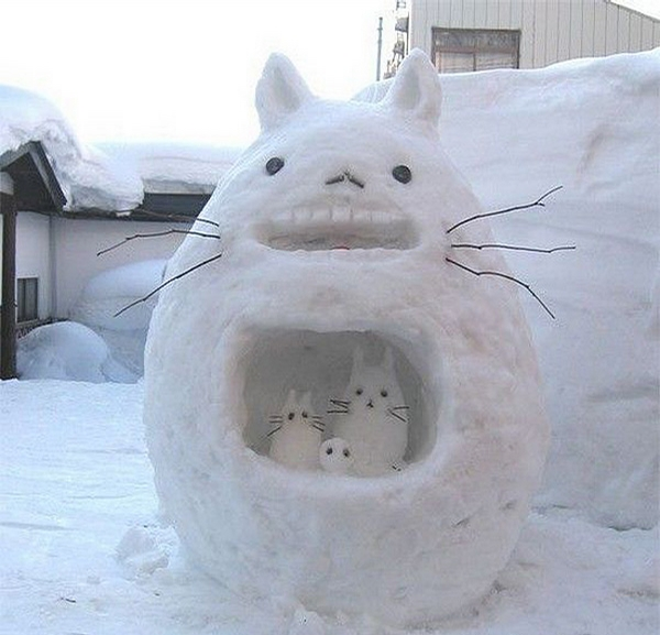 Furry Snowman picture