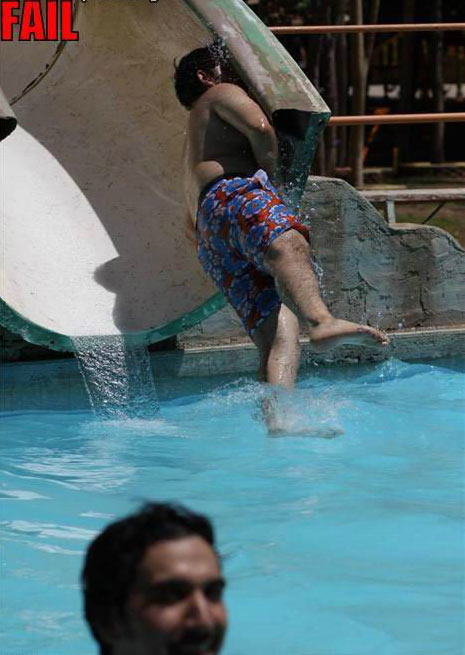 Water Slide Fail picture