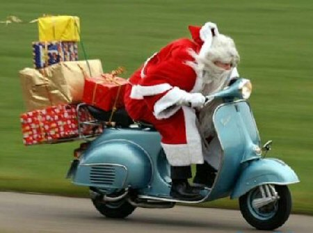 Scooter Santa picture