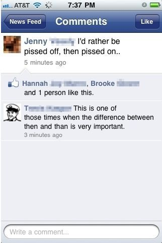 Facebook and Grammar picture