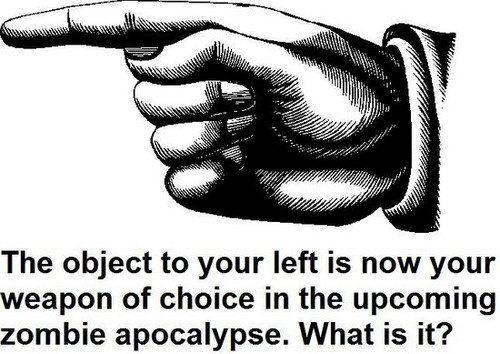 Your Weapon in the Zombie Apocalypse picture