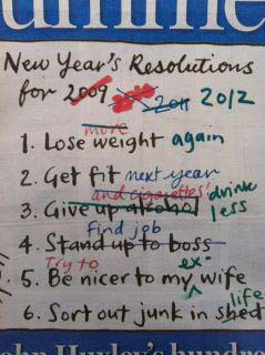 New Years Resolutions picture