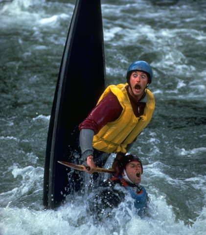 Canoeists Scared Faces picture