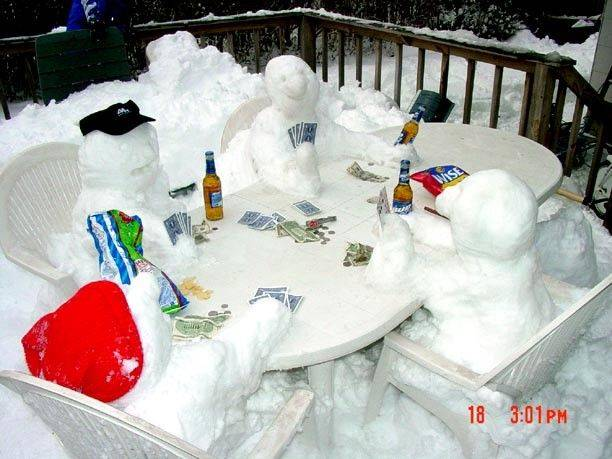 Snowmen Poker Party picture