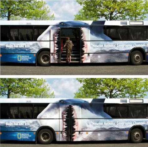 Cool Bus Advertisement picture
