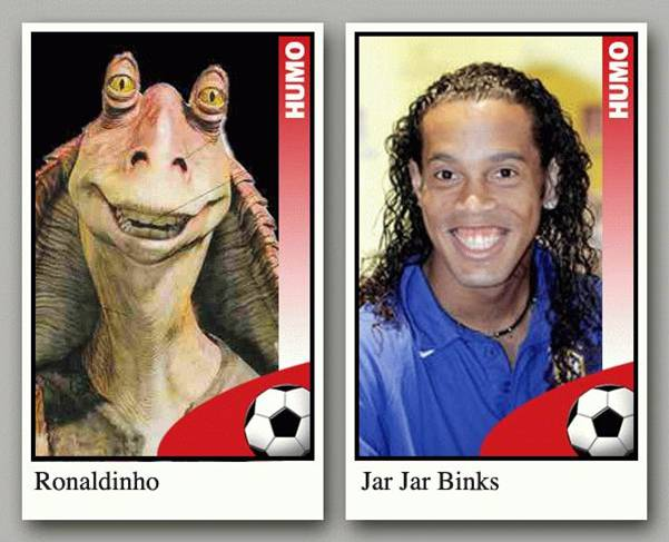 Ronaldinho And Jar Jar picture