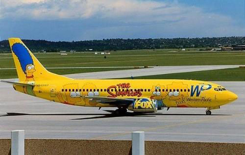 Simpsons Plane picture