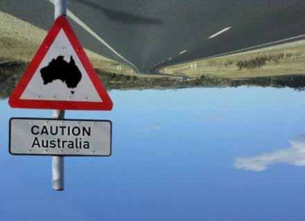 Caution Australia picture