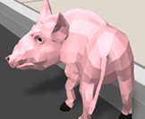 Explore the city as pig, Grand Theft Auto piggy style!