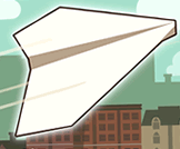 Throw your paper plane as far as possible