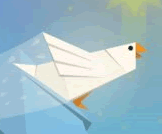 Fly origami birds around the screen, single player and multiplayer mode!