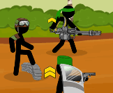 Command a team of stickman soldiers
