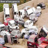 Parking lot after an earthquake humorous images