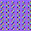 optical illusion with colored beads