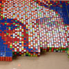 an awesome picture made of Rubiks Cubes