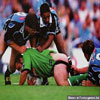 Funny football pictures let´s make a deal the ball for your shorts