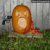 Funny halloween pics shot to death with revolver