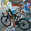 guess who will win this kid bike race