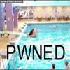 Funny people pics hasty pool jump