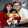 Funny photos dark cute baby with parents