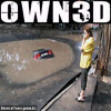 Funny car pic unbelieveably deep pool