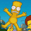 funny shot of naked Bart
