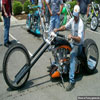 Interesting motorbike with strange wheels fun images