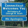 sign informing the birthplace of Bush